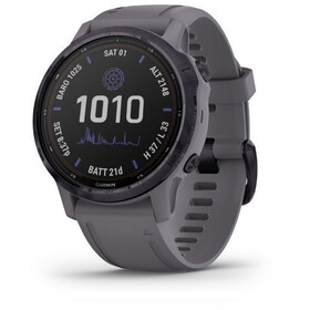 Garmin Fenix 6S Pro Solar GPS Smartwatch, dark grey/purple